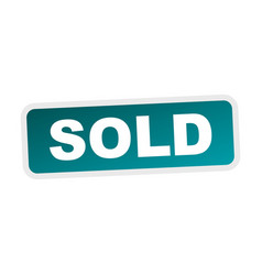 sold stamp flat icon vector image