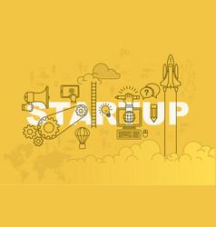 startup banner background design concept vector image