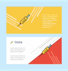 syringe abstract corporate business banner vector image
