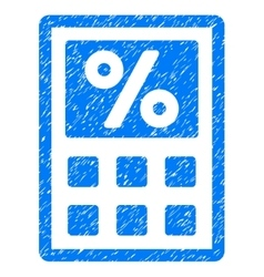 Tax Calculator Grainy Texture Icon vector