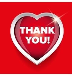 Thank you card heart vector