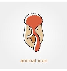 Turkey icon Farm animal vector image