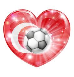 turkey soccer heart flag vector image