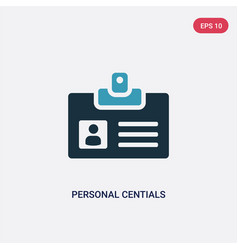 Two color personal centials icon from user vector