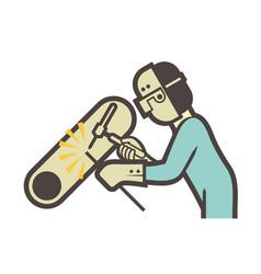 Welder welding icon vector