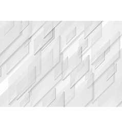 White and grey tech motion shapes design vector