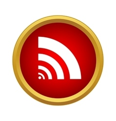 Wi fi icon in simple style vector