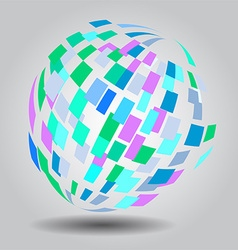 Abstract globe background vector image vector image