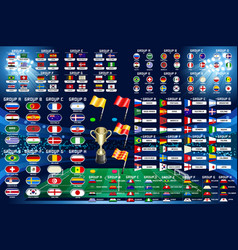 football world championship schedule vector image vector image