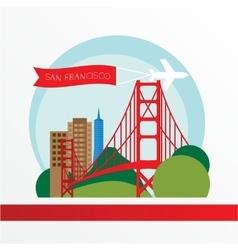 Golden Gate bridge - The symbol of US San vector image