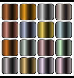 metal gradients vector image vector image