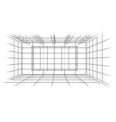 wireframe interior sketch style vector image vector image