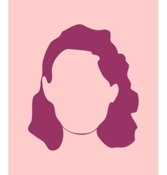 Woman silhouette Retro style vector image
