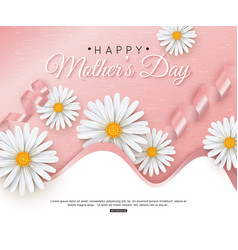 happy mothers day greeting card with typographic vector image vector image