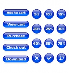 online shop button set vector image