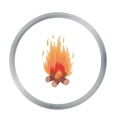 Campfire icon in cartoon style isolated on white vector image