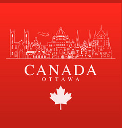 canada travel landmarks vector image vector image