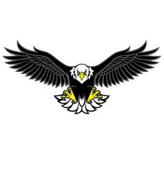 Eagle mascot spread the wings vector