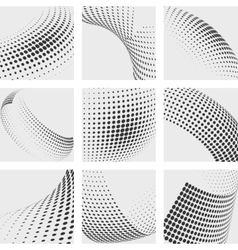 Halftone dots abstract backgrounds set vector image