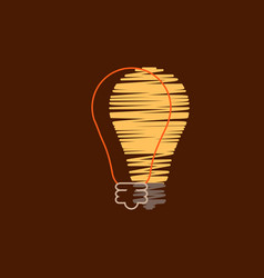 light bulb shape as inspiration concept flat vector image vector image