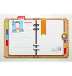 personal organiser vector image vector image