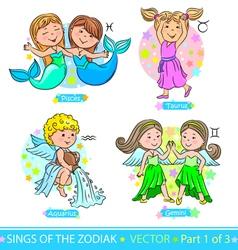 Zodiac signs 1 vector image