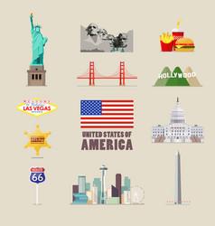 America icons set vector