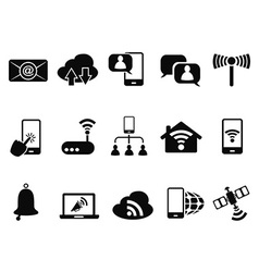 digital communication icons set vector image