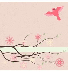 Floral background with text box vector image
