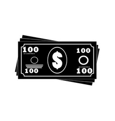 money banknotes stack icon vector image vector image