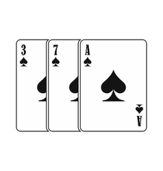 Playing cards black simple icon vector image vector image