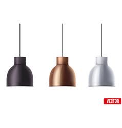 retro metallic stylish ceiling cone lamp vector image