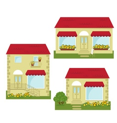 set of small shops vector image vector image