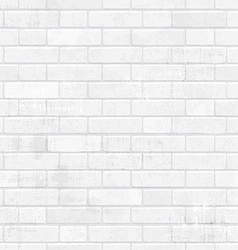 Shabby chic white brick wall for your design vector