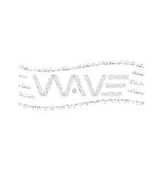 Wave logo text dots particles graphic design t vector image