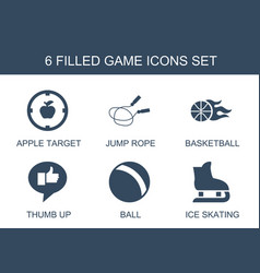 6 game icons vector