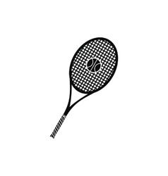 A tennis racquet and a ball icon vector image