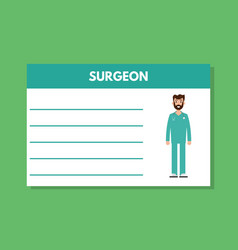 about doctor surgeon template medical vector image