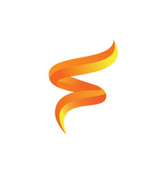 Abstract 3d swirl logo image vector