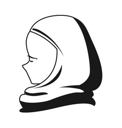 Arab woman face in a hijab vector