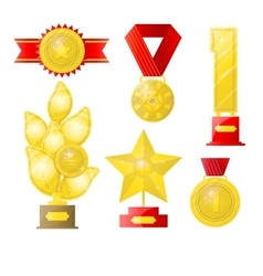 Award isolated on white vector image