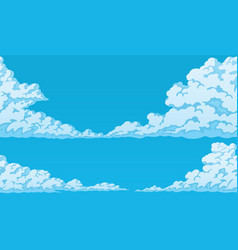 Background of fluffy cumulus clouds vector