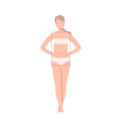 Beautiful woman in underwear female rectangle vector
