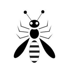 Bee icon in simple style vector image