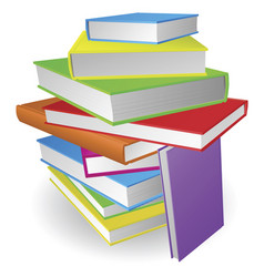 big stack of books vector image