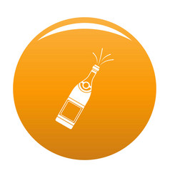Bottle of champagne icon orange vector