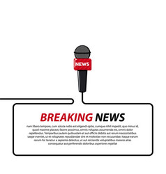 breaking news concept with quote for news channels vector image