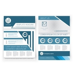 brochure design template front page vector image