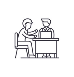 Business consulting line icon concept business vector