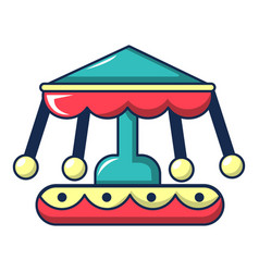 Carousel icon cartoon style vector